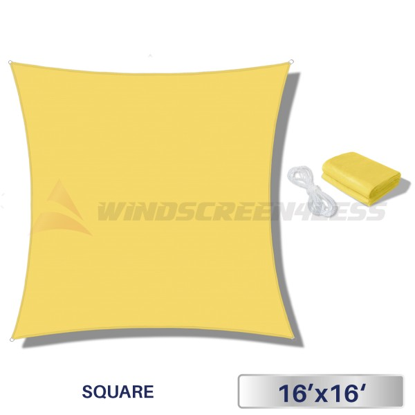 Shade Of Yellow fence windscreen, privacy screen, shade cloth for construction